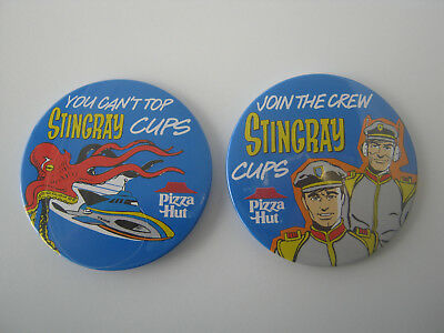 Pizza Hut (1992) Stingray Gerry Anderson TV (1964) Staff Badges x2