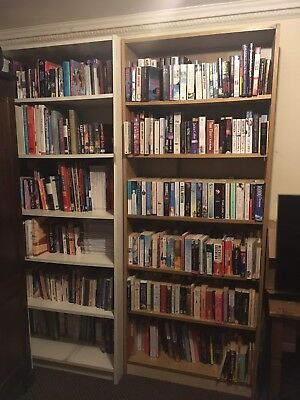 1,023+ books job lot in Ikea Billy bookcases.