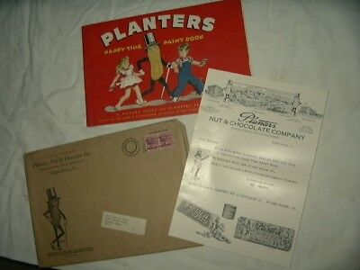 Original Uncolored Planters Peanut Paint Book Happy Time Paint Book