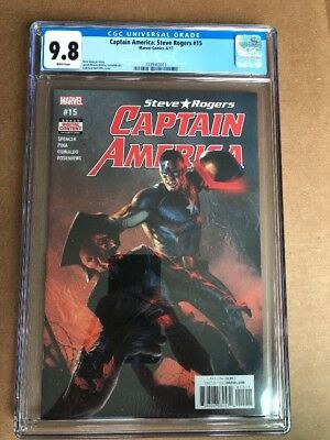 CAPTAIN AMERICA #15 (2017) CGC 9.8 Dell Otto Cover 1st Print