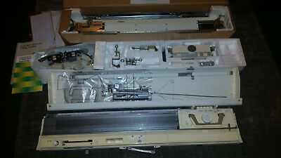 Brother Knitting Machine Kh836 & A Brother Ribber Attachment Kr830
