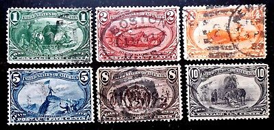 Buffalo Stamps, Scott #285-290 Trans-Mississippi VF-XF, Awesome Lot, CV = $175