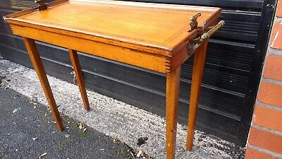 Antique Solid Mahogany Inlaid Tray Table, Occasional Table, Lap / Bed Table