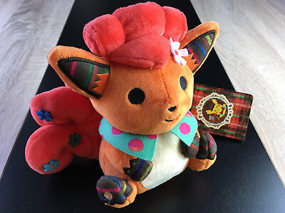 Peluche Goupix (Vulpix) Pokémon Center 2015 - NEUF Chiku Chiku Sewing Plush