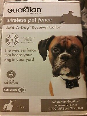 Guardian By Petsafe Wireless Pet Fence Add-A-Dog Receiver Collar New
