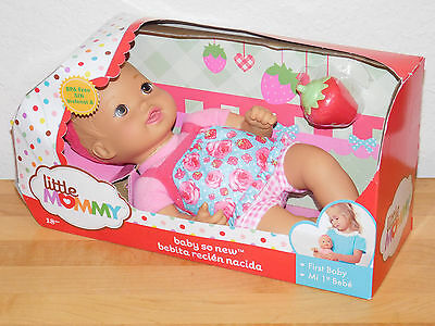 Baby So New Strawberry Picnic Bloomer 1st Baby Doll Little Mommy Soft Body NEW
