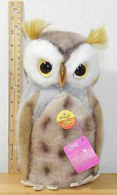 "Wonderful Large 9.5"" Steiff WIGGI Barn Owl 2625/25 Germany RARE Tags Button"