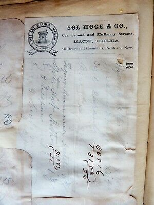 Rare!! Civil War Era Macon & Atlanta Georgia Doctors Hospital Prescription Book