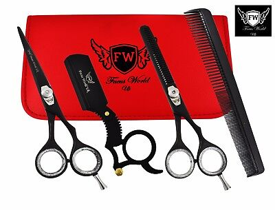 6.5'' Professional Hair Cutting Thinning Shears Barber Hairdressing Scissors Set