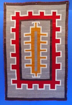 "Antique Navajo Klagatoh  Rug c.1920 45"" x 71"" Great wool & weave XLNT condition"