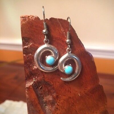 Sterling and Turquoise set- earrings and pendant