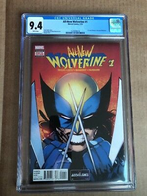 ALL-NEW WOLVERINE #1 (2016) CGC 9.4 1st App X-23 As Wolverine