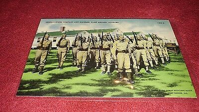 VINTAGE POSTCARD headquarters company 81ST DIVISION CAMP RUCKER ALABAMA