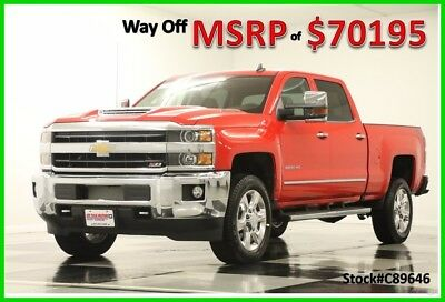 2018 Chevrolet Silverado 2500 HD MSRP$70195 4X4 LTZ Diesel Sunroof Red Crew 4WD New 2500HD Duramax Heated Cooled Leather Seats GPS Navigation 17 2017 18 Cab 6.6