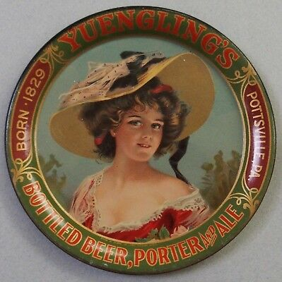 Yuengling's Bottled Beer Advertising Tip Tray Beautiful Girl Great Color
