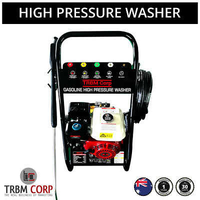 Pressure Washer Cleaner 8HP 4-Stroke 4800PSI Water Pump 20M Hose 5 Turbo Nozzles