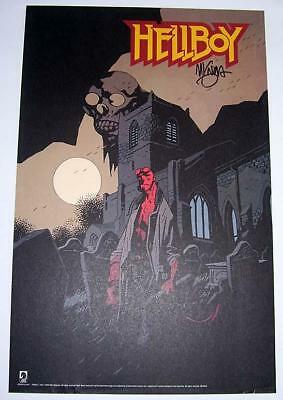 Hellboy Art Print Poster Signed by Mike Mignola Dark Horse Comics 2008