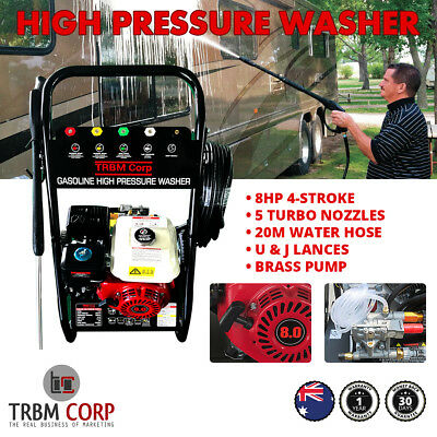 High Pressure Washer Cleaner 8HP 4 Stroke  4800PSI Water Pump  20M Hose 5 Nozzle