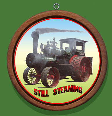 Case Still Steaming Redwood and Canvas Christmas Tree Ornament