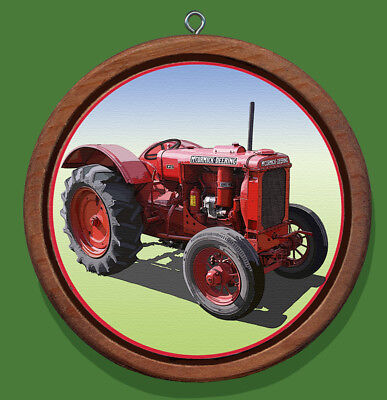 International Harvester W12 Redwood and Canvas Christmas Ornament