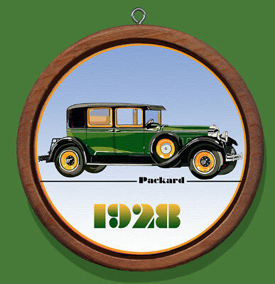 Packard 1928 Redwood and Canvas Christmas Tree Ornament
