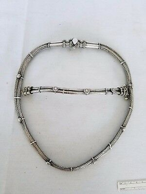 Vintage Sterling silver Bali necklace and bracelet runway style heavy