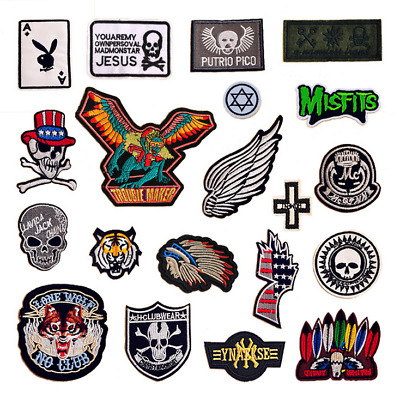 Metal Rock Punk Retro Music Band Indy Emo Sew Iron On Embroidered Patch Applique
