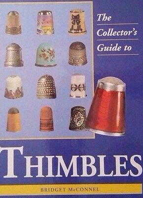 VINTAGE THIMBLE VALUE GUIDE COLLECTOR'S BOOK 300+ illustrations All Color Pics