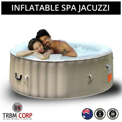 NEW Spa Hot Tub 40C Seats 4-6 Portable Jacuzzi 130 Jets, Locking Cover, Filters