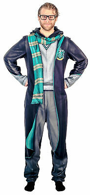 Adult Unisex Harry Potter Slytherin Union Suit Costume Pajama with Hood