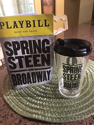 Bruce Springsteen on Broadway CUP AND PLAYBILL FROM Opening Night NYC!