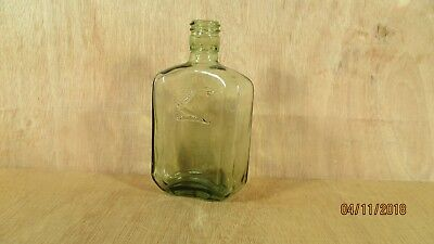 "Antique S. S. Stafford Glass Ink Bottle Made in Canada Empty No Cork 5 1/4"" H"