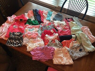 Huge Lot Of 6 Month Old Baby Girl Clothes Oshkosh/ Carters/ John Deere/ & More!!
