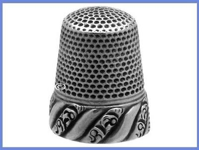 Antique American Sterling Silver Thimble 'Scrolls' *C.1880s