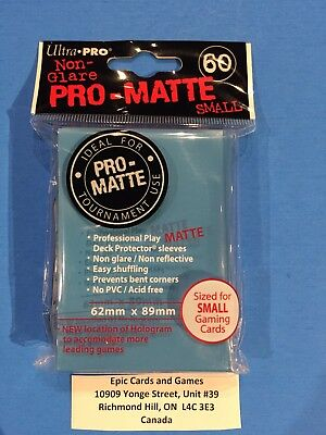 ( LIGHT BLUE Yu-Gi-Oh Sleeves ) 60ct Small Size Protectors - Ultra Pro PRO-MATTE