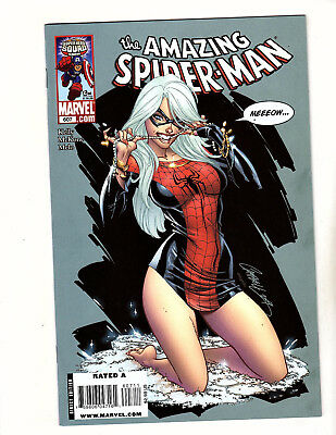 The Amazing Spider-Man #607 (2009, Marvel) FN+ J Scott Campbell Black Cat Cover