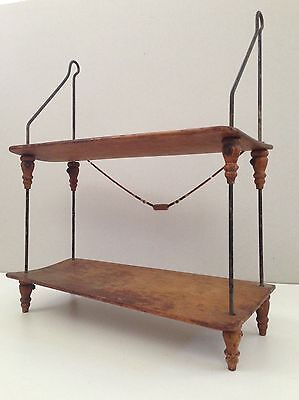 Nice 20Th Century Wooden Hanging Wall Shelf