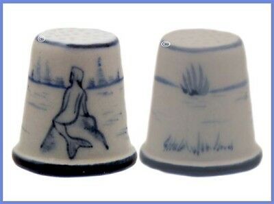 Vintage HURLEY Porcelain Thimble, Mermaid