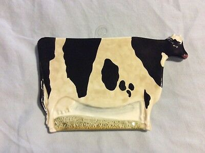 NEW Warren Kimble COW Trivet / SPOON REST with display-hanger FarmHouse, Country