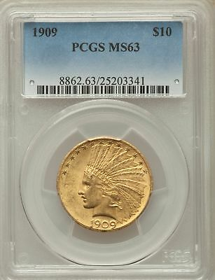 1909 $10 Indian Eagles PCGS MS63