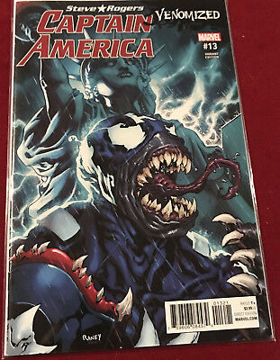 Captain America Steve Rogers #13 Cover B Variant Tom Raney Venomized Cover