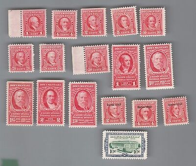 U.S.A. : Interesting DOCEMENTARY stamps Mostly MOG NH...2 scans