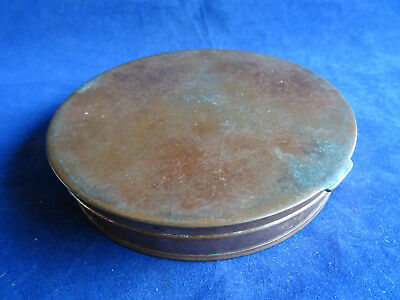 A Large Vintage Copper Fishing Fly Cast Tin
