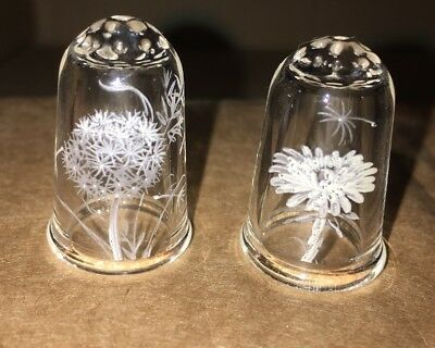 Clear glass thimble great condition (set of 2)