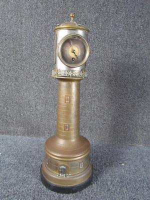 ANTIQUE FRENCH INDUSTRIAL LIGHTHOUSE CLOCK with BAROMETER, THERMOMETER