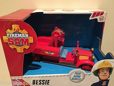 Fireman Sam Push Along Bessie Vehicle Engine Fire Ages 3+ New In Box  Rrp £14.99