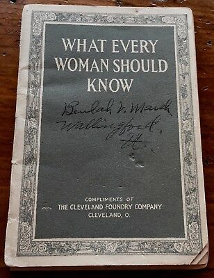 1915 What Every Woman Should Know New Perfection Oil Cook-Stoves Booklet B Marsh