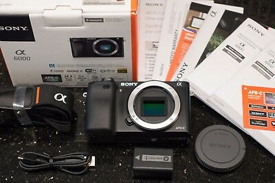 Sony Alpha a6000 24.3MP Digital Camera - Black (Body) - Mint - Free Shipping