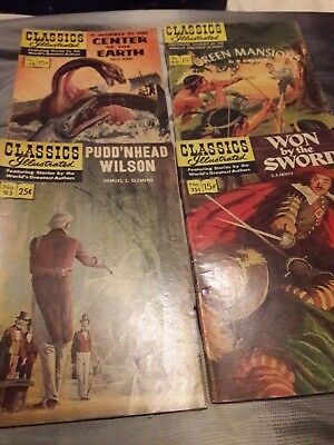 Classics illustrated comics lot of 4 from the 1950s
