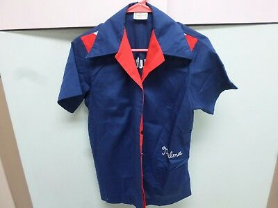 70's VINTAGE KING LOUIE WOMEN'S BOWLING SHIRT FIRST SECURITY BANK HELENA, MONT.
